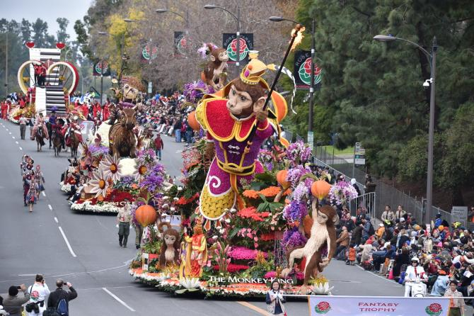 Rose Parade floats 2018
