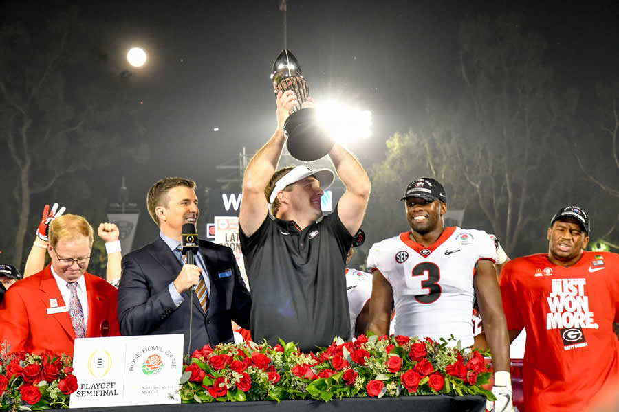 Georgia wins Rose Bowl Game thriller in 2OT