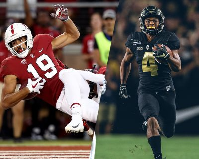Stanford's JJ Arcega-Whiteside and Purdue's Rondale Moore